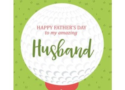 Golf Ball Husband Father's Day Card