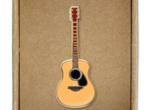 @302 Enamel Pin Guitar
