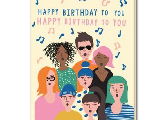 Choir Birthday Card