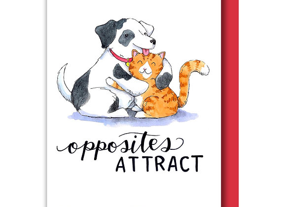 Opposites Attract Card