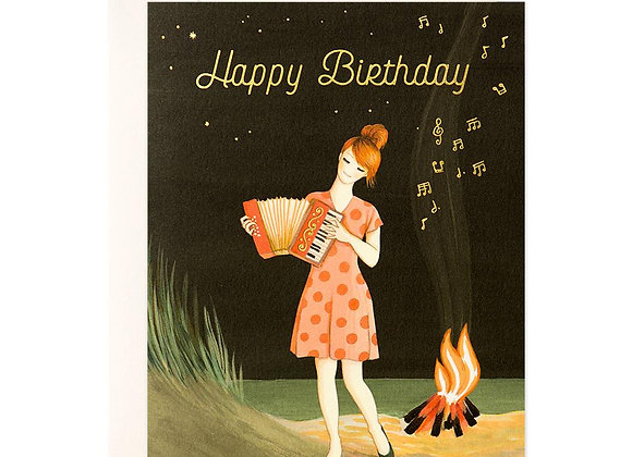 Accordion Player Birthday Card