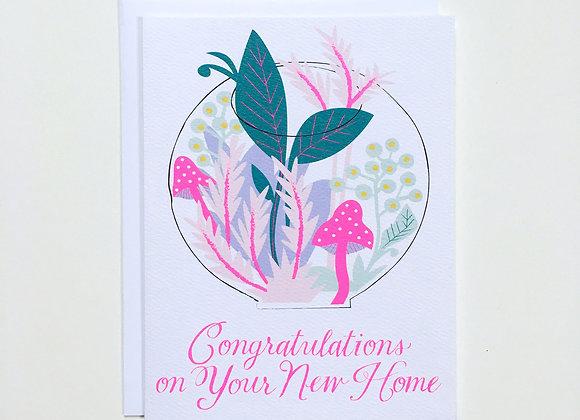 Terrarium New Home Card
