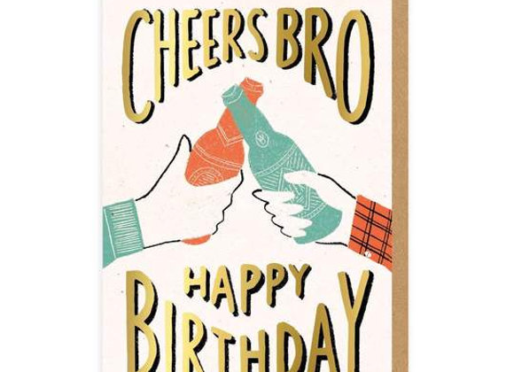 Cheers Bro Happy Birthday Card by Ohh Deer