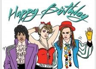 Pop 80's Birthday Card by The Found