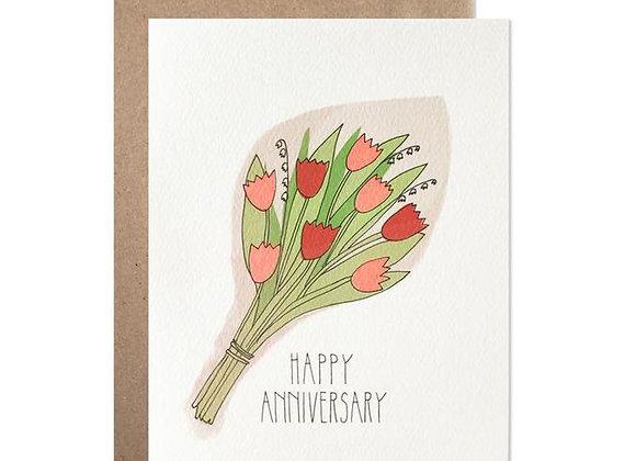 Happy Anniversary Bouquet Card
