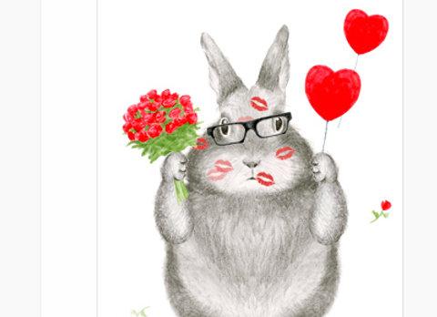 Love Bunny Valentine's Day Card