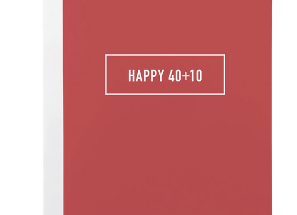 Happy 40+10 Card