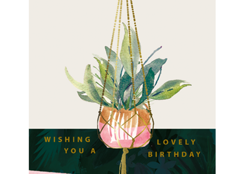 Hanging Plant Birthday Card