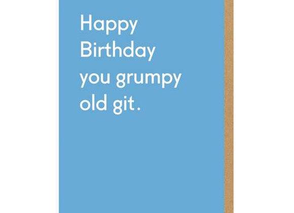 Happy Birthday You Grumpy Birthday Card by Ohh Deer