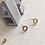 Thumbnail: OoOooS Minimalist O Stud Earrings Gold