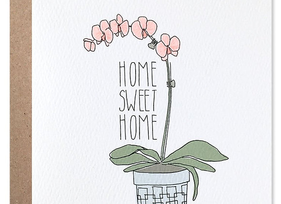Home Sweet Home Orchid Card