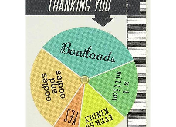 Thank You Wheel Card