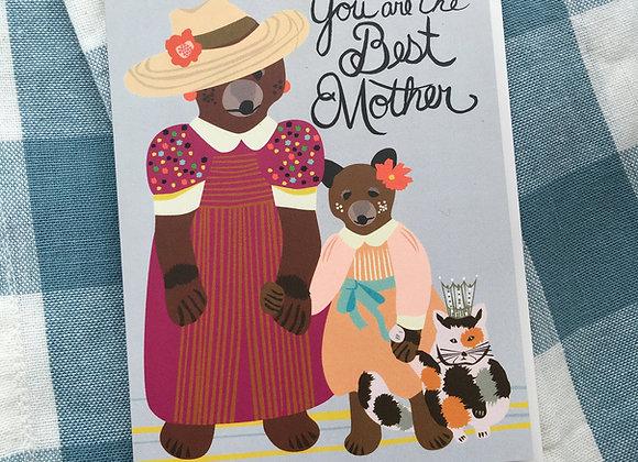 Best Mother Bear Card