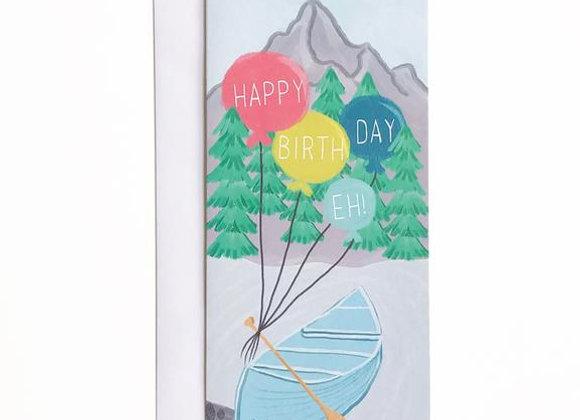 Happy Birthday Canoe Card