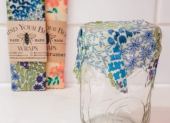 Beeswax Wrap Jar Toppers 3 Piece
