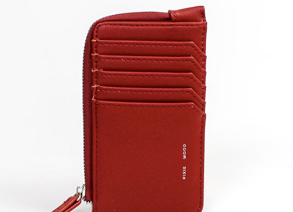 Quinn Card wallet - smooth red