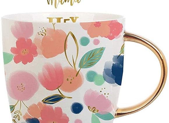 Hey Mama Floral Mug 14oz