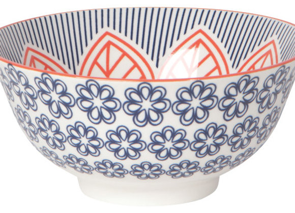 """Red Floral Bowl 6"""""""