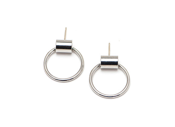 Swing Hoop Small Earrings
