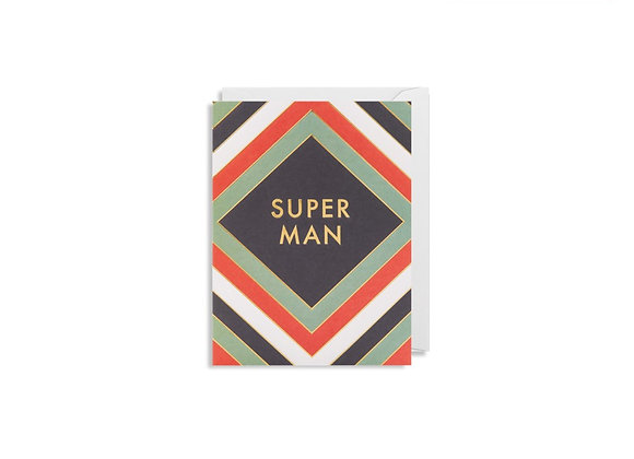 Mini Super Man Card