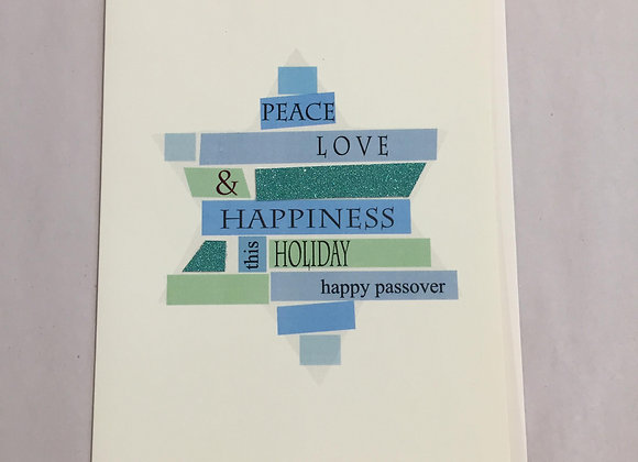 Peace Love Passover Card