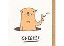 Cheers Groundhog Card
