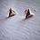 Thumbnail: Isoceles Pyramid Stud Earrings Silver