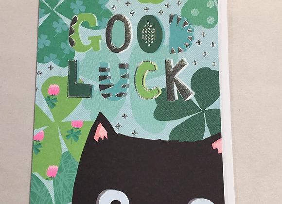 Luck Cat Congrats Card