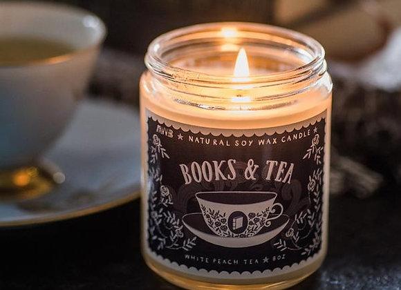 Books And Tea Candle