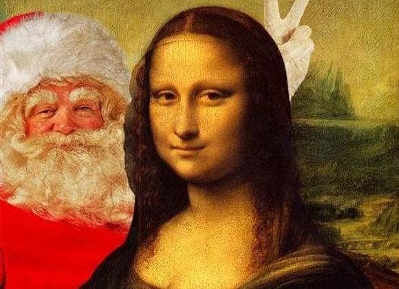 Santa Photo Bomb Christmas Card
