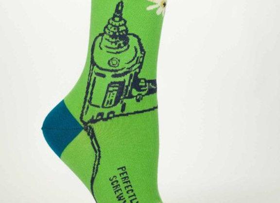 Perfectly Screwy Crew Socks