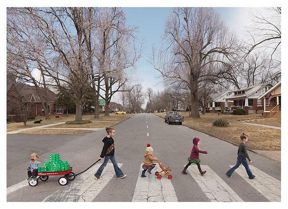 Kids Crosswalk Birthday Card