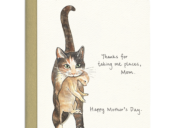 Cat Mom Mother's Day Card