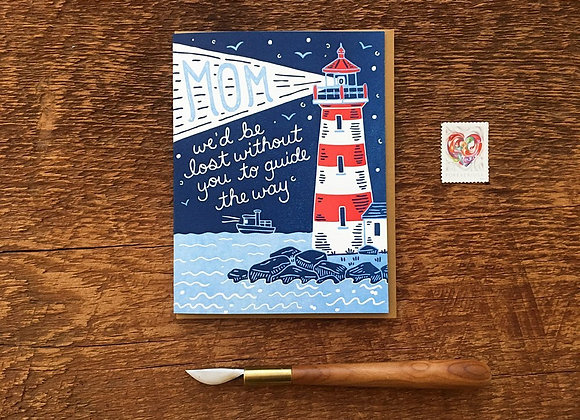 Mom Lighthouse Mother's Day Card