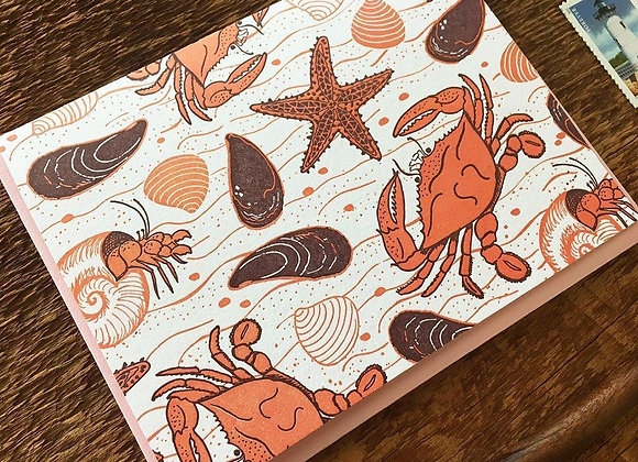 Crab Beach Card
