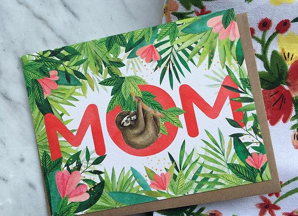 Sloth Mom Card