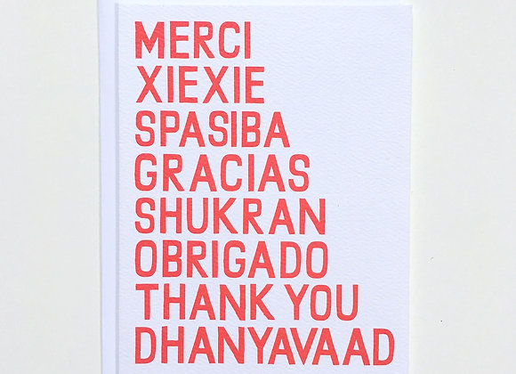 Universal Thank You Card