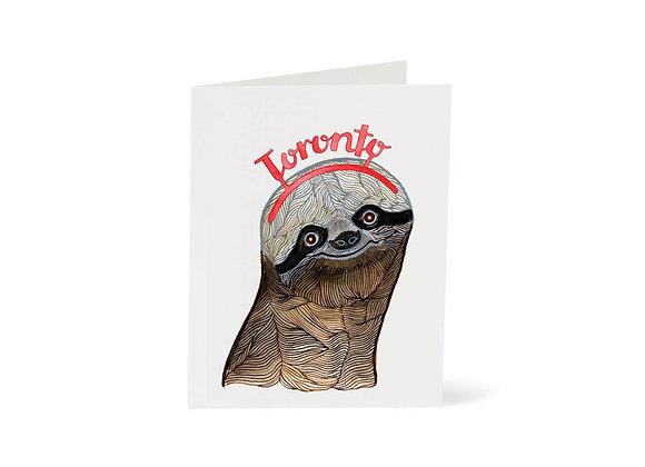 Sloth Toronto Card
