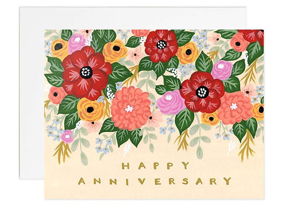 Bouquet Anniversary Card