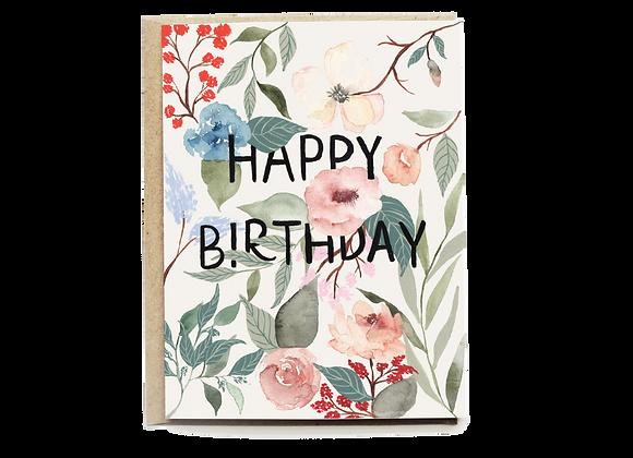 Garden Floral Birthday Card