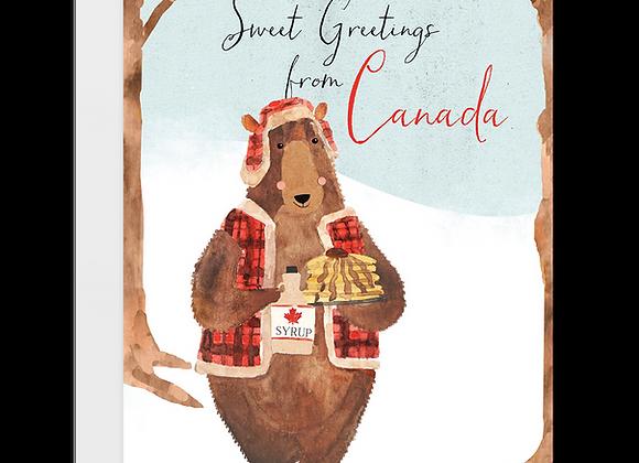 Canada Bear Card