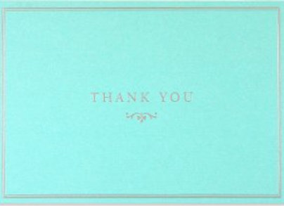 Blue Elegance Thank You Notecards