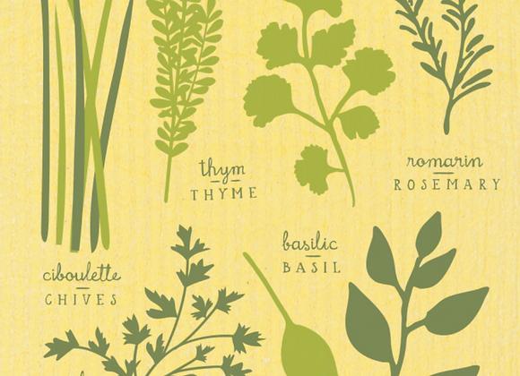 Les Fines Herbs Ecologie Swedish Sponge Cloth