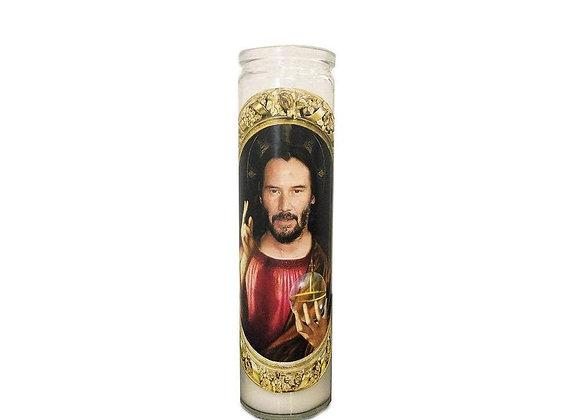 Saint Keanu Reeves Prayer Candle