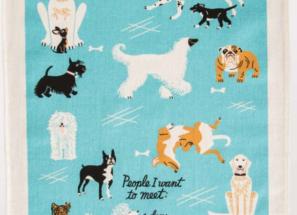 People To Meet:  Dogs Dish Towel