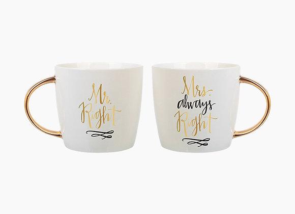 Mr & Mrs Always Right - Mug Set