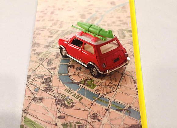 Windsail Toy Car Driving On Map Bon Voyage Card