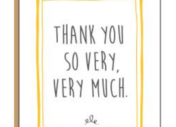 Very Much Thank You Card