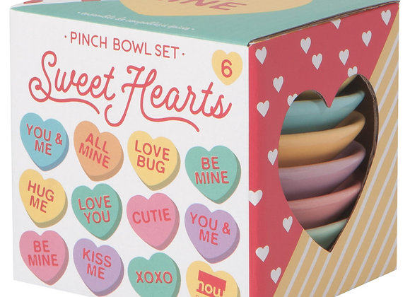 Sweet Hearts Pinch Bowl Set of 6