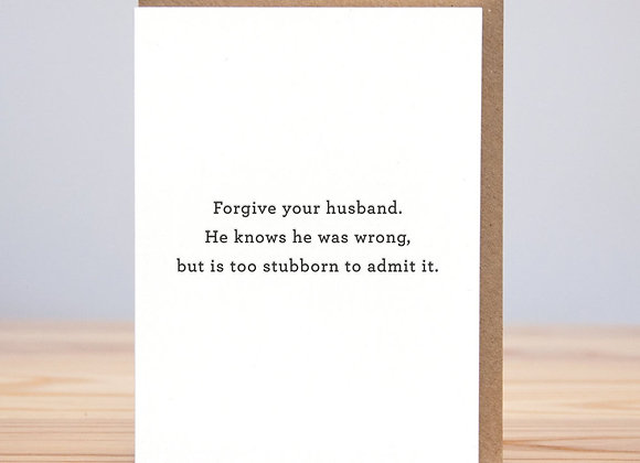 Forgive Your Husband Card